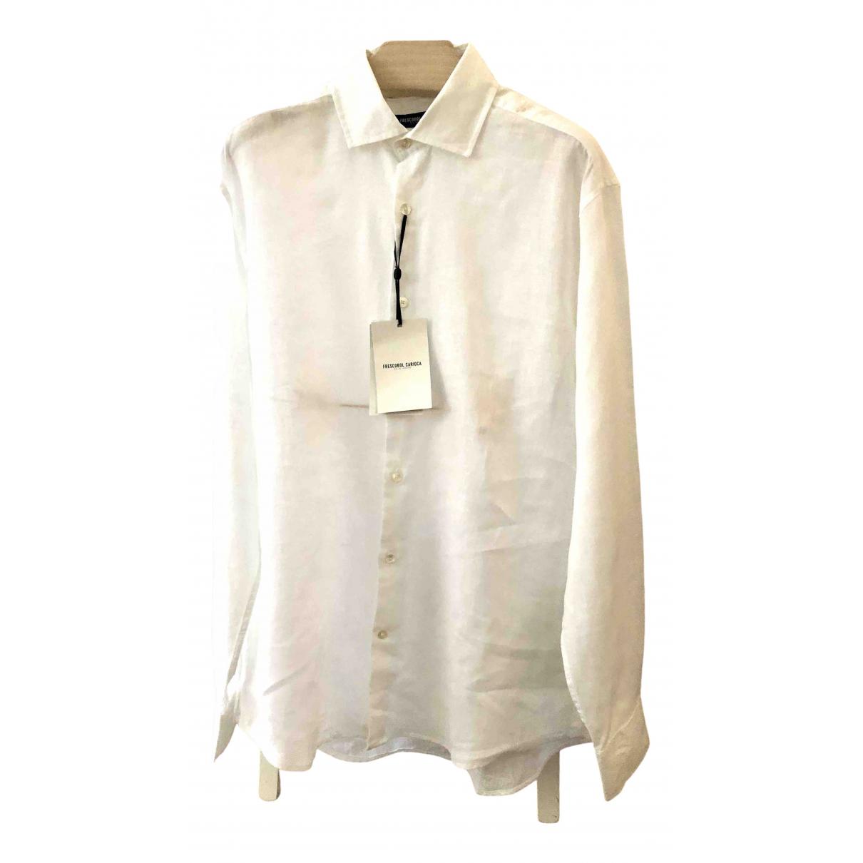 Frescobol Carioca - Chemises   pour homme en lin - blanc