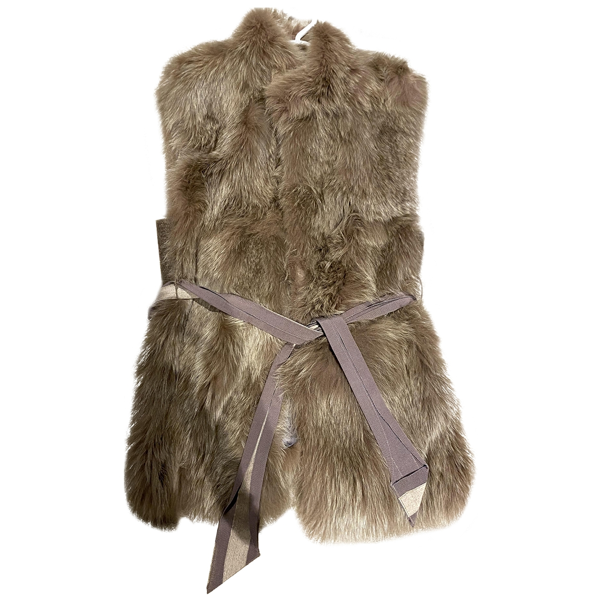 Blancha \N Brown Rabbit jacket for Women 42 IT