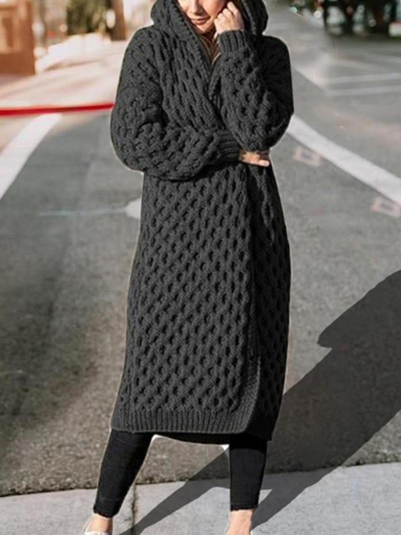 Ericdress Regular Hooded Loose Women's Sweater