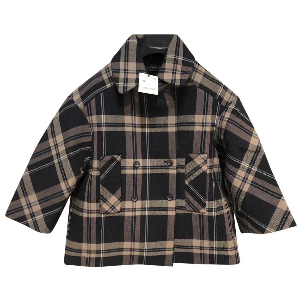 Zara - Manteau   pour femme en laine - gris