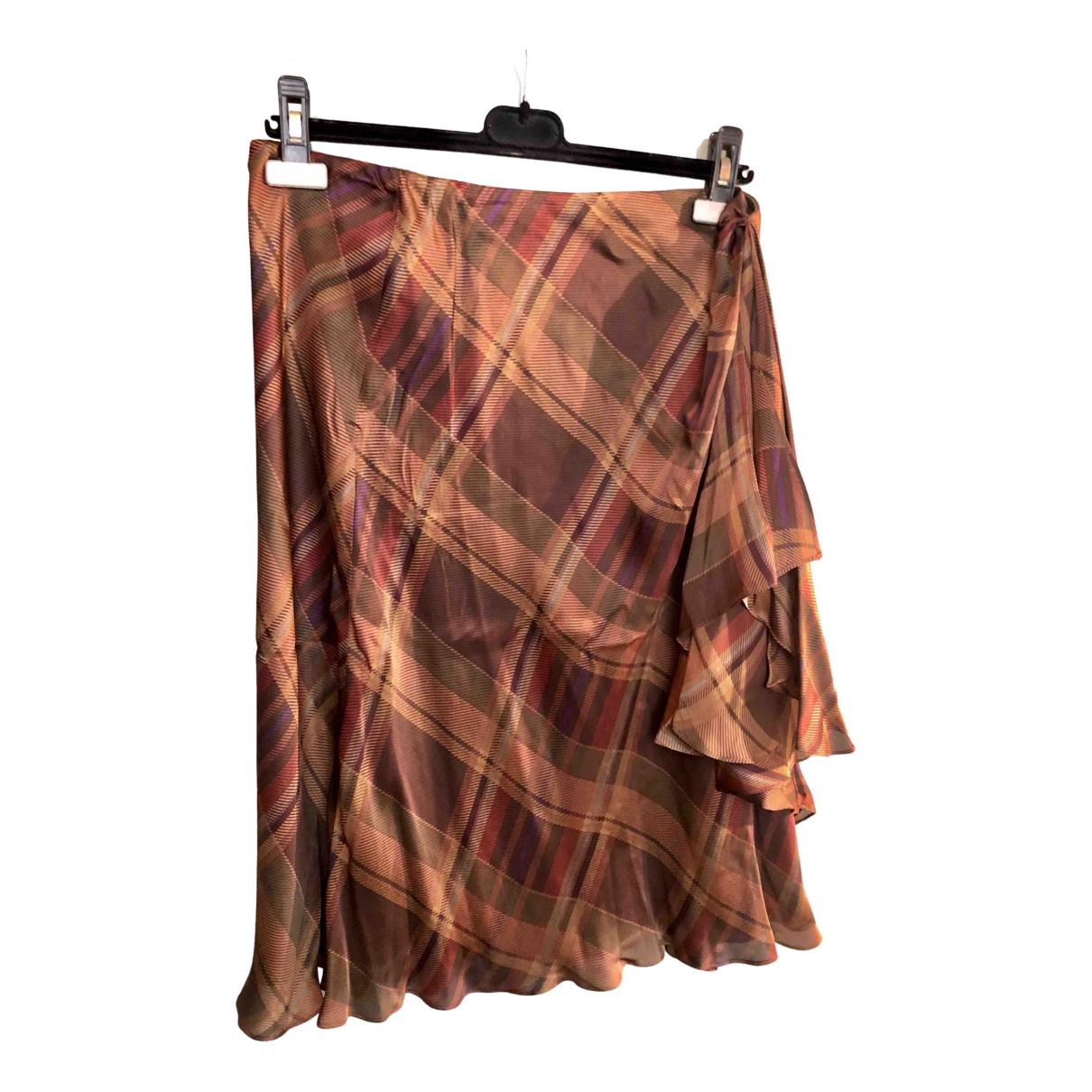 Lauren Ralph Lauren - Jupe   pour femme en soie - marron