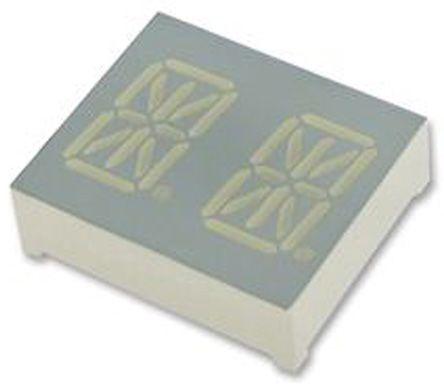 Kingbright PDC54-11SYKWA  2 Digit 14-Segment LED Display, CC Yellow 87 mcd RH DP 13.8mm (2)