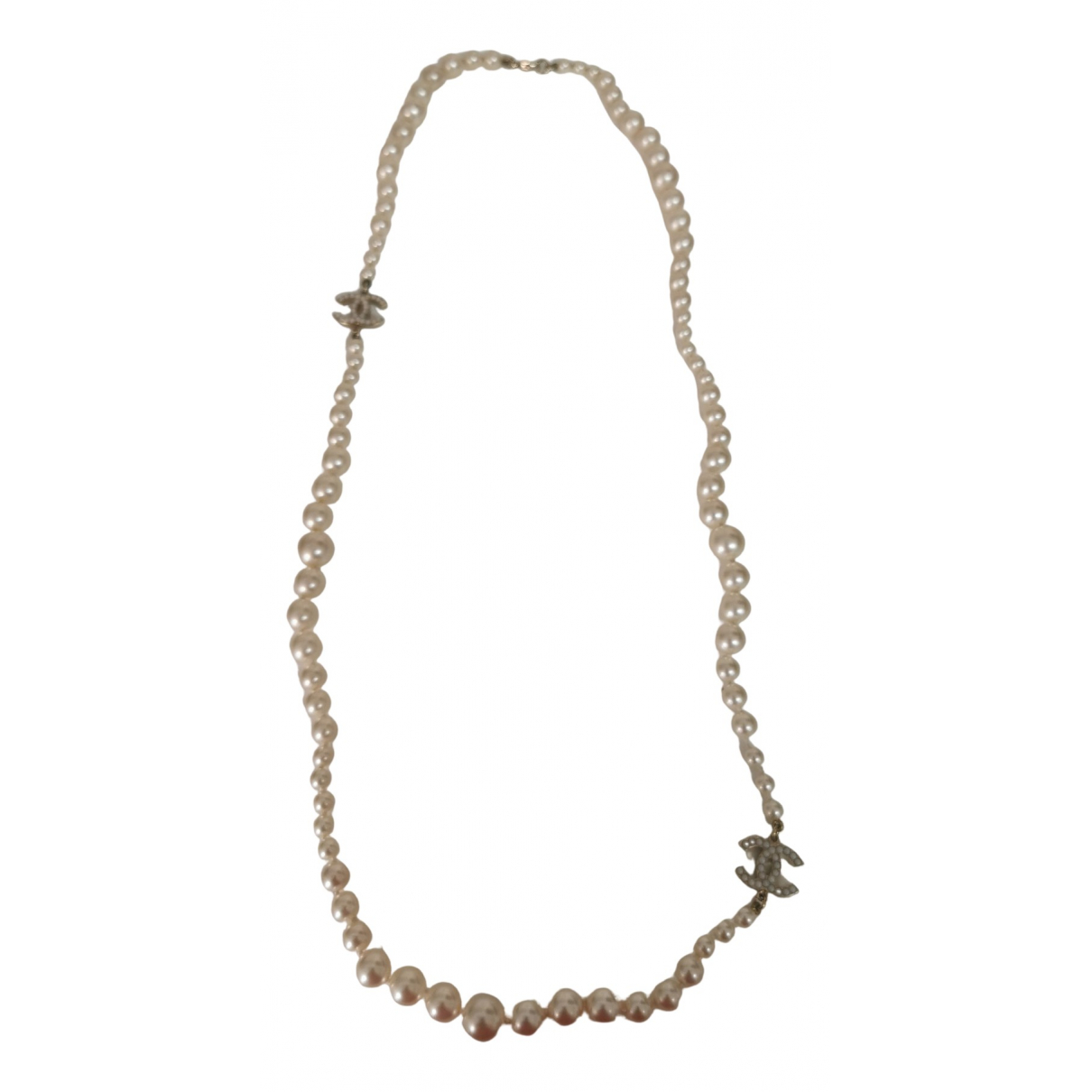 Chanel CC Yellow Pearls necklace for Women N