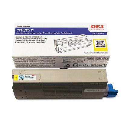 Okidata 44318601 Original Yellow Toner Cartridge for C711 Printer