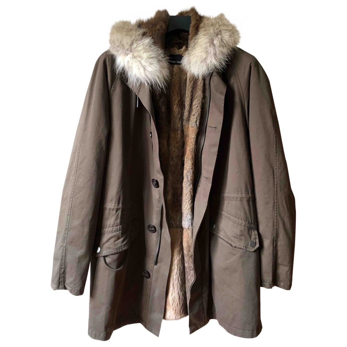 Yves Salomon \N Khaki Rabbit coat  for Men L International