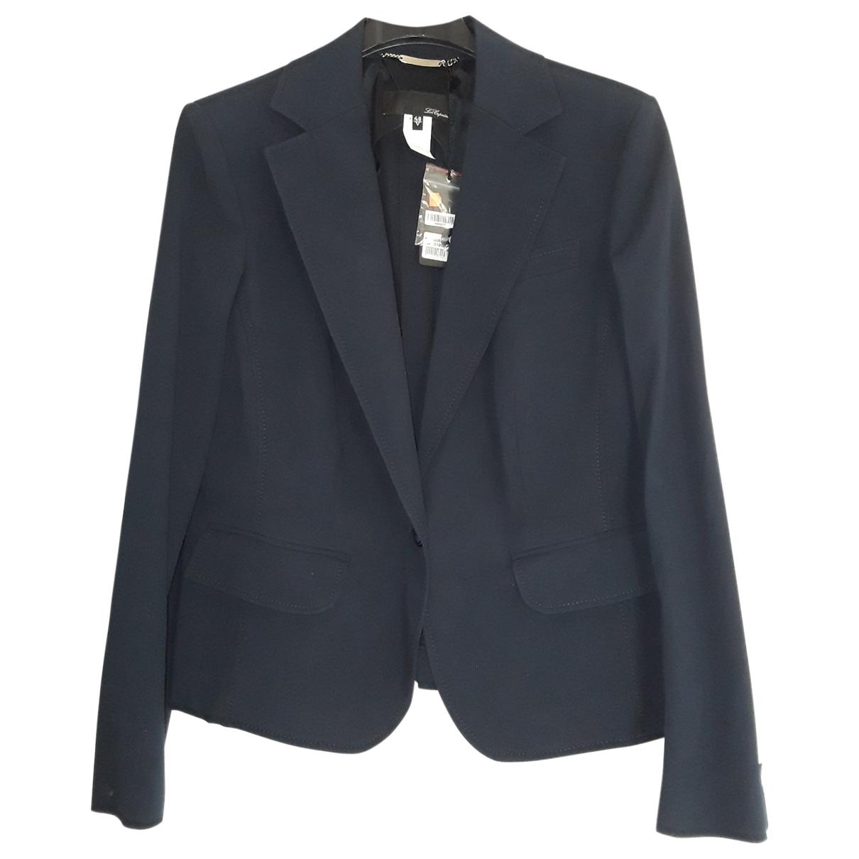 Non Signé / Unsigned \N Blue Cotton jacket for Women 48 IT