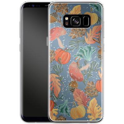 Samsung Galaxy S8 Silikon Handyhuelle - Fall Woodland Blue von Mukta Lata Barua