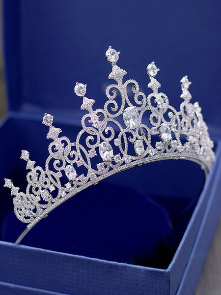 Milanoo Celada de la boda accesorios Headwear corona de diamante accesorios nupciales del pelo