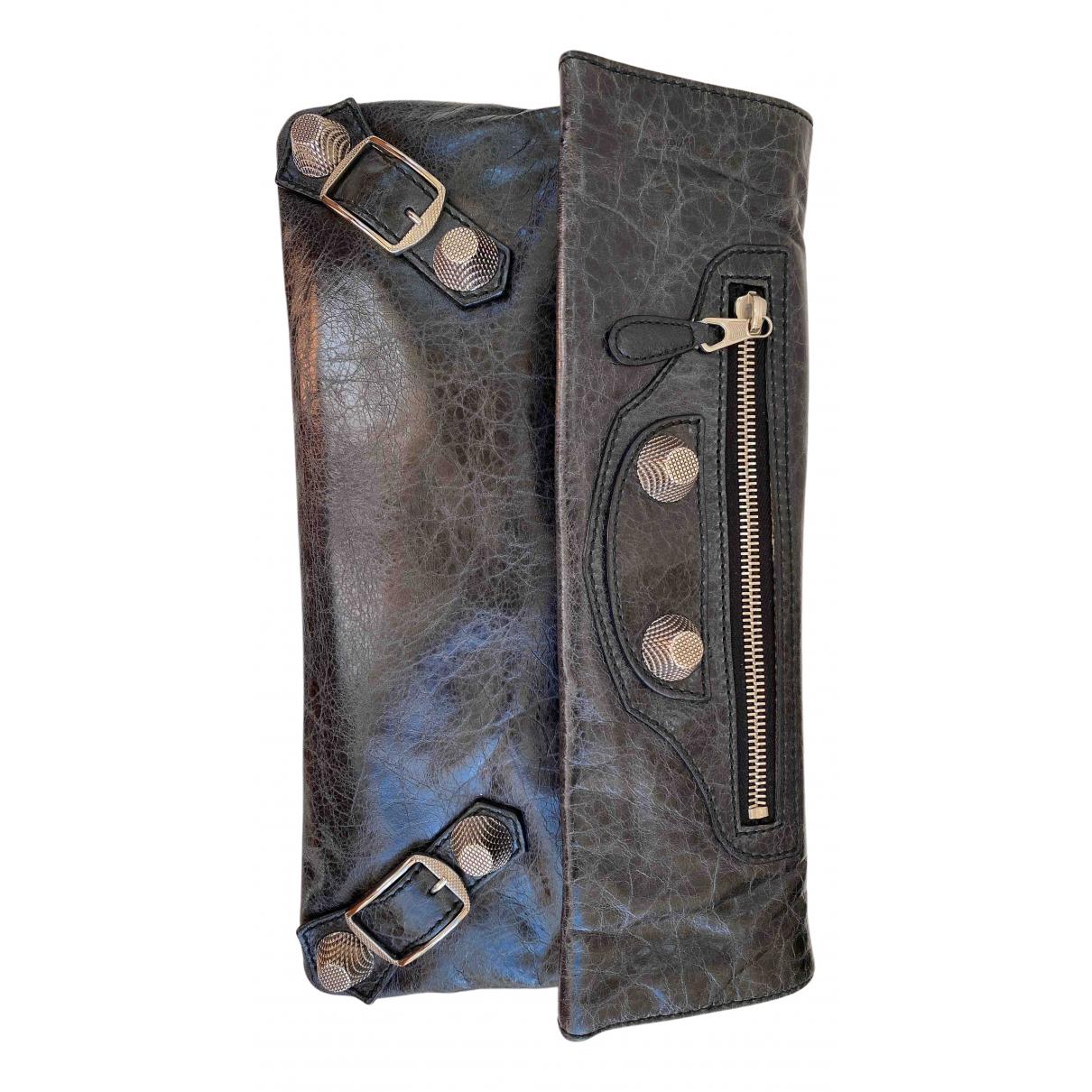 Balenciaga Envelop Black Leather Clutch bag for Women N
