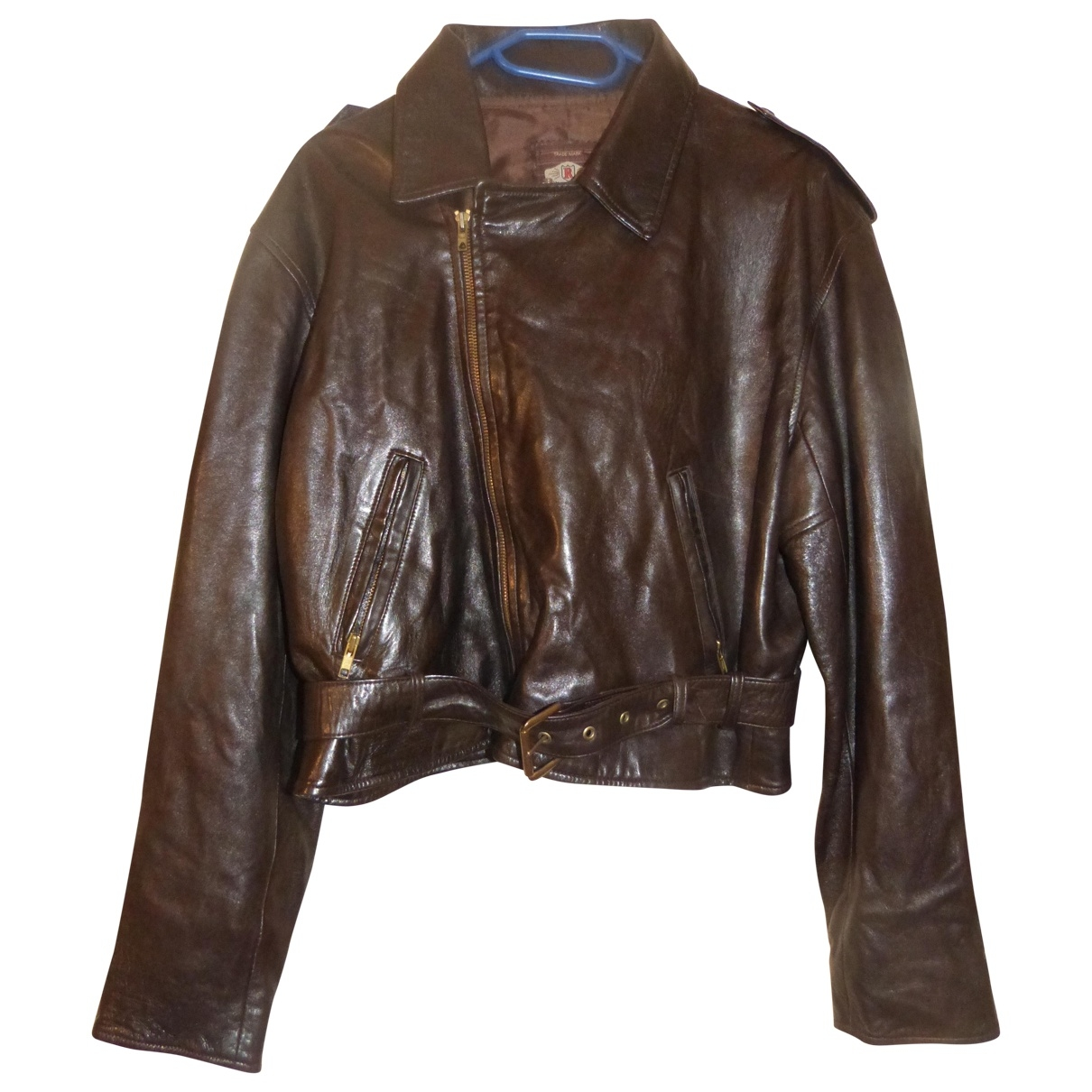 Non Signé / Unsigned \N Brown Leather Leather jacket for Women 3 0-5
