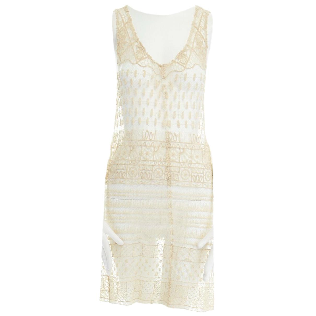 Ann Demeulemeester \N Beige Cotton dress for Women 38 FR