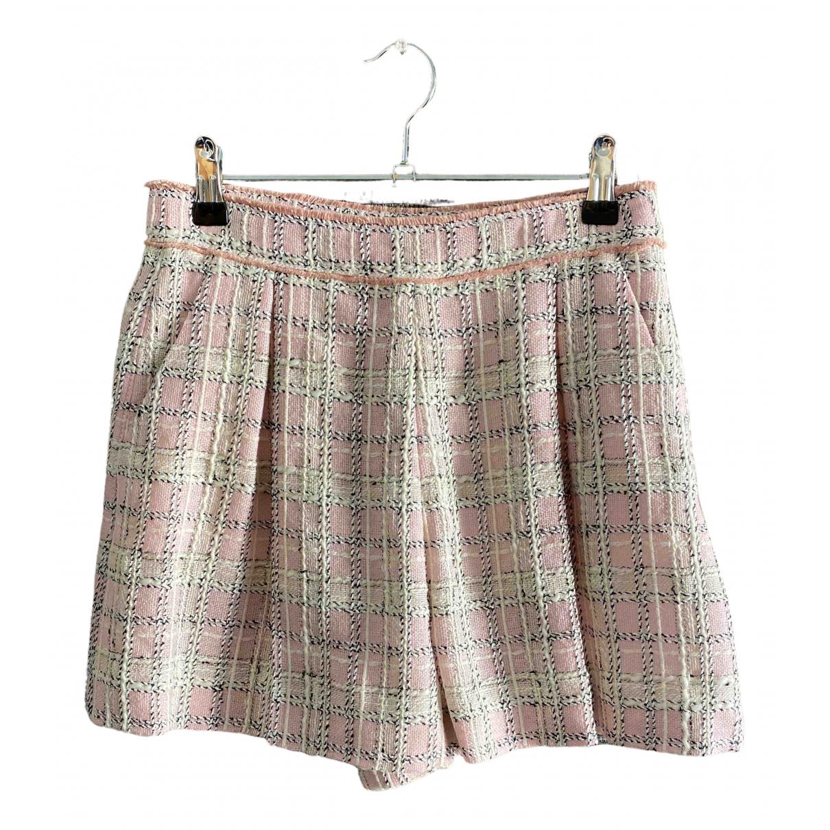 Miu Miu \N Shorts in  Rosa Wolle