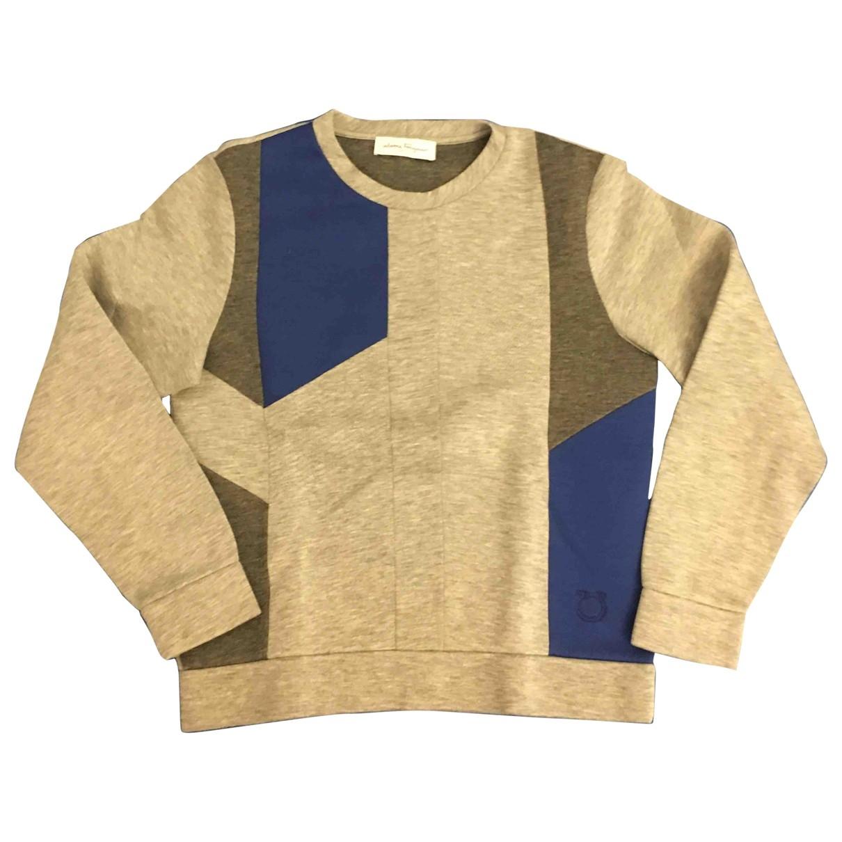 Salvatore Ferragamo \N Pullover.Westen.Sweatshirts  in  Grau Viskose
