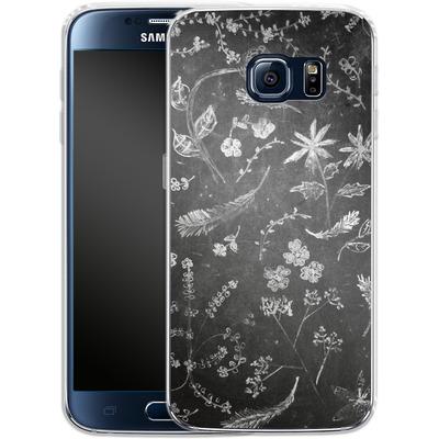 Samsung Galaxy S6 Silikon Handyhuelle - Flowers in chalk von ND Tank