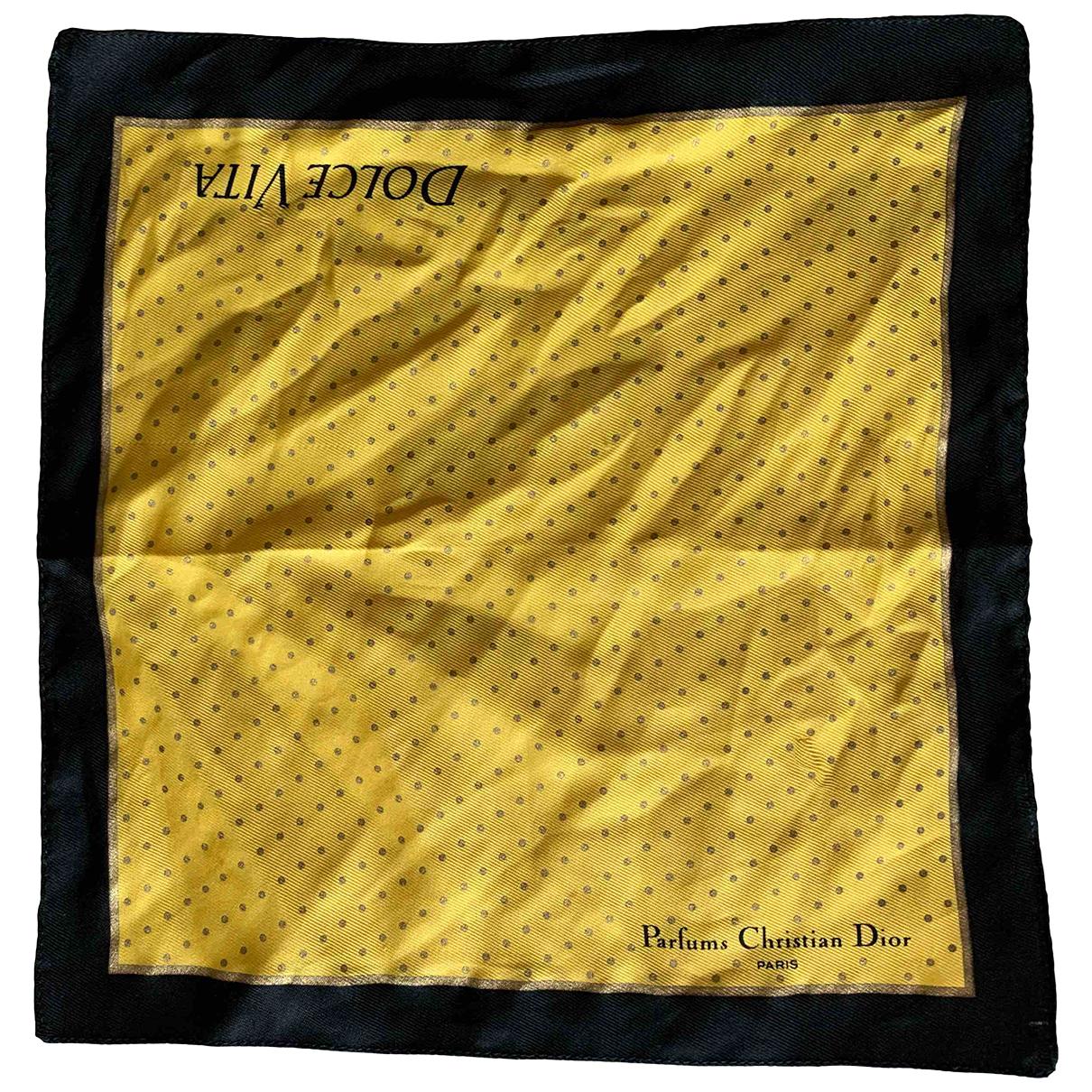 Christian Dior - Foulard   pour femme en autre - jaune
