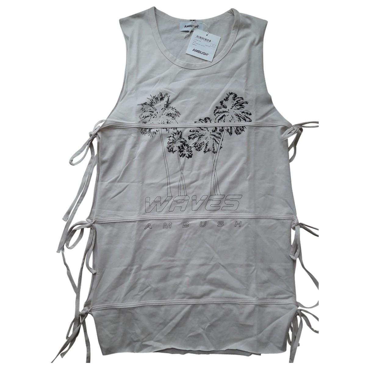 Ambush - Top   pour femme en coton - beige