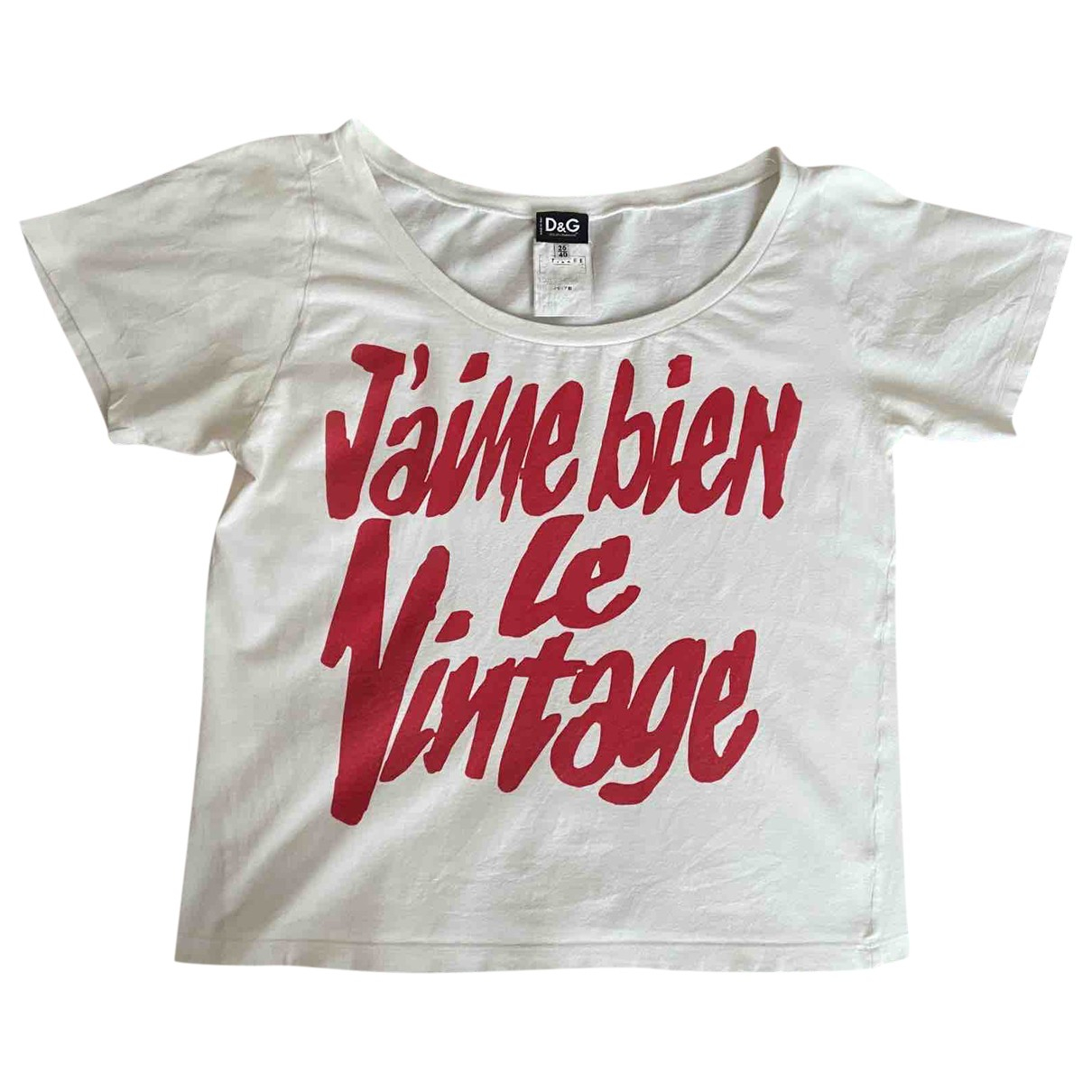 D&g \N White Cotton  top for Women 40 IT