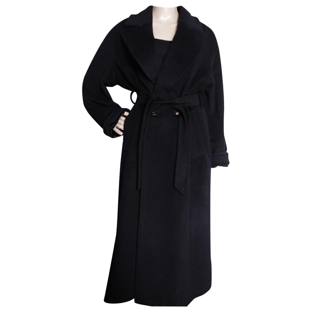 Sam Rone \N Black Wool coat for Women 38 FR
