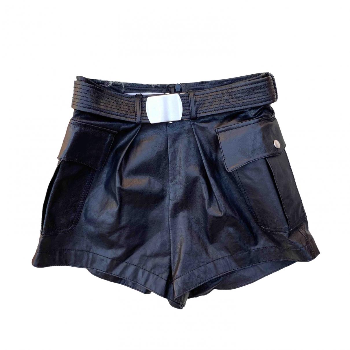 Philosophy Di Alberta Ferretti \N Shorts in  Schwarz Leder