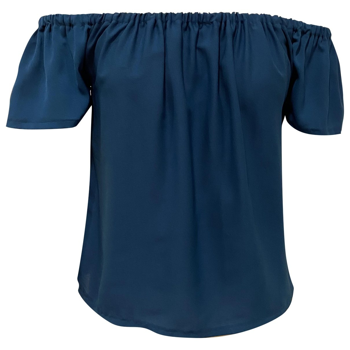 Non Signé / Unsigned \N Blue Silk  top for Women S International