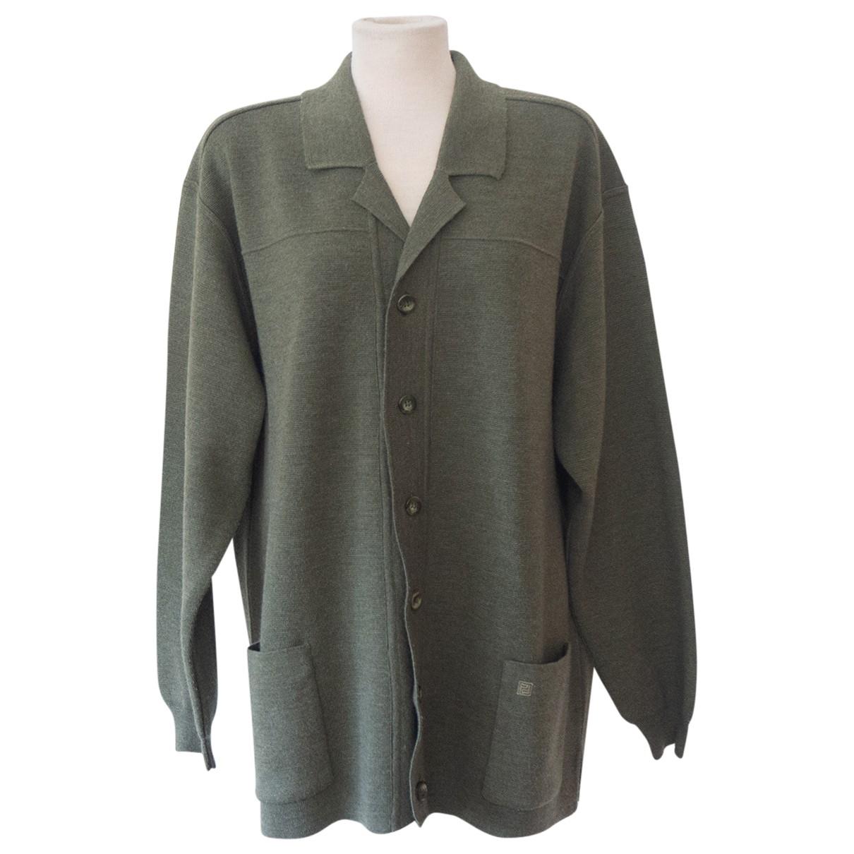 Non Signe / Unsigned \N Pullover.Westen.Sweatshirts  in  Khaki Wolle