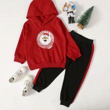 Weihnachten Hoodie & Jogginghose mit Einsatz