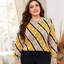 Pullover mit Argyle Muster
