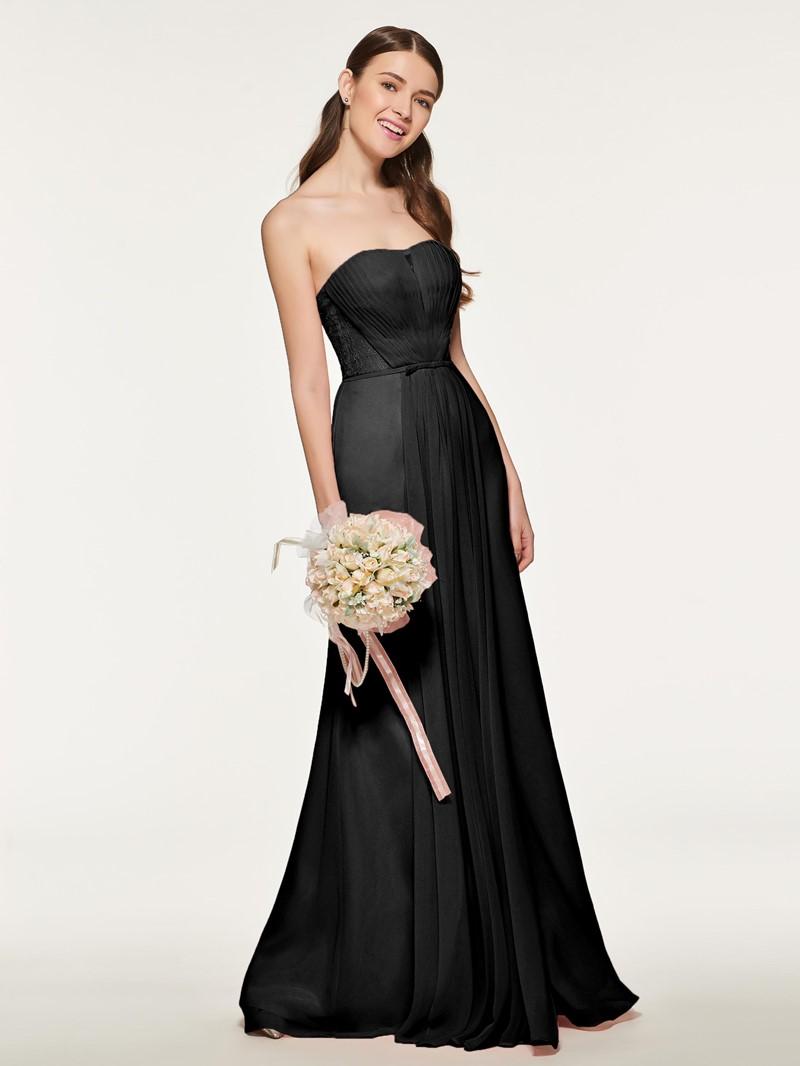 Ericdress Sweetheart Pleats Long Bridesmaid Dress