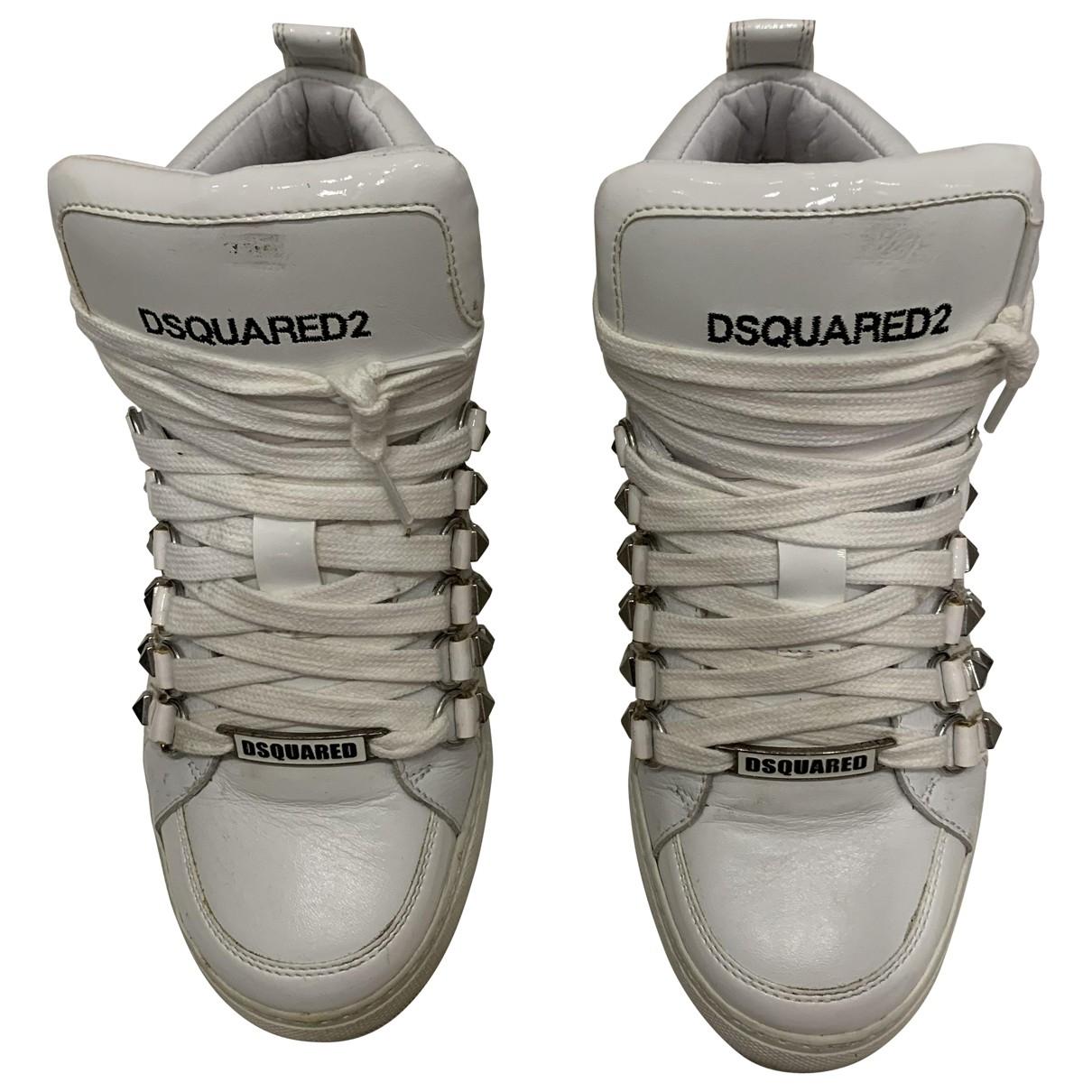 Dsquared2 - Baskets   pour homme en cuir - blanc