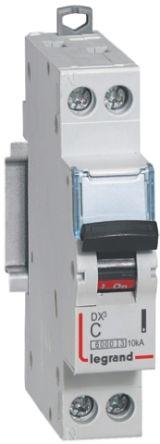 Legrand DX Range 1 A MCB Mini Circuit Breaker, 1 + N Curve C