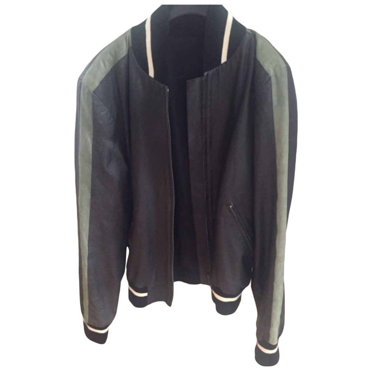 Agnès B. \N Black Leather jacket  for Men 50 FR