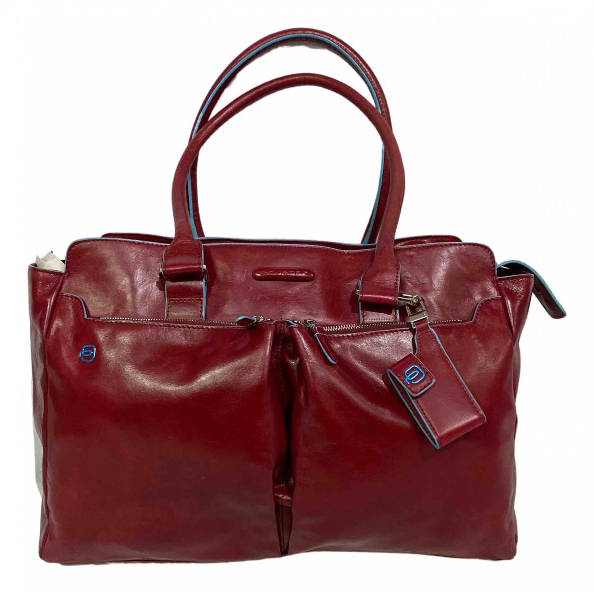 Piquadro N Red Leather handbag for Women N