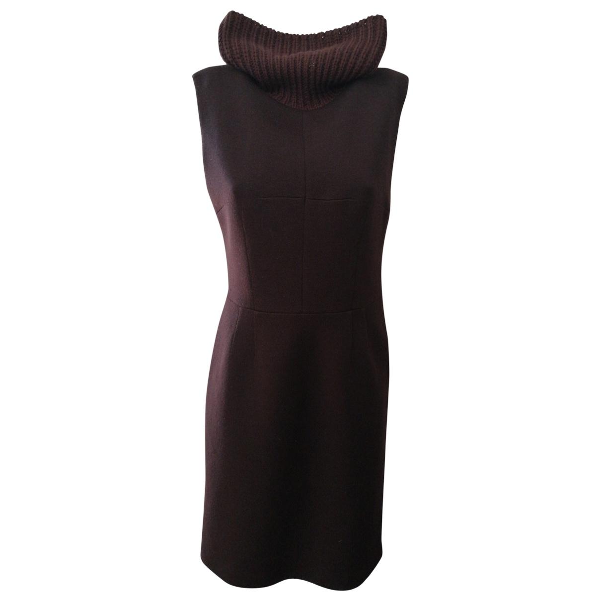 Dolce & Gabbana \N Kleid in  Braun Wolle