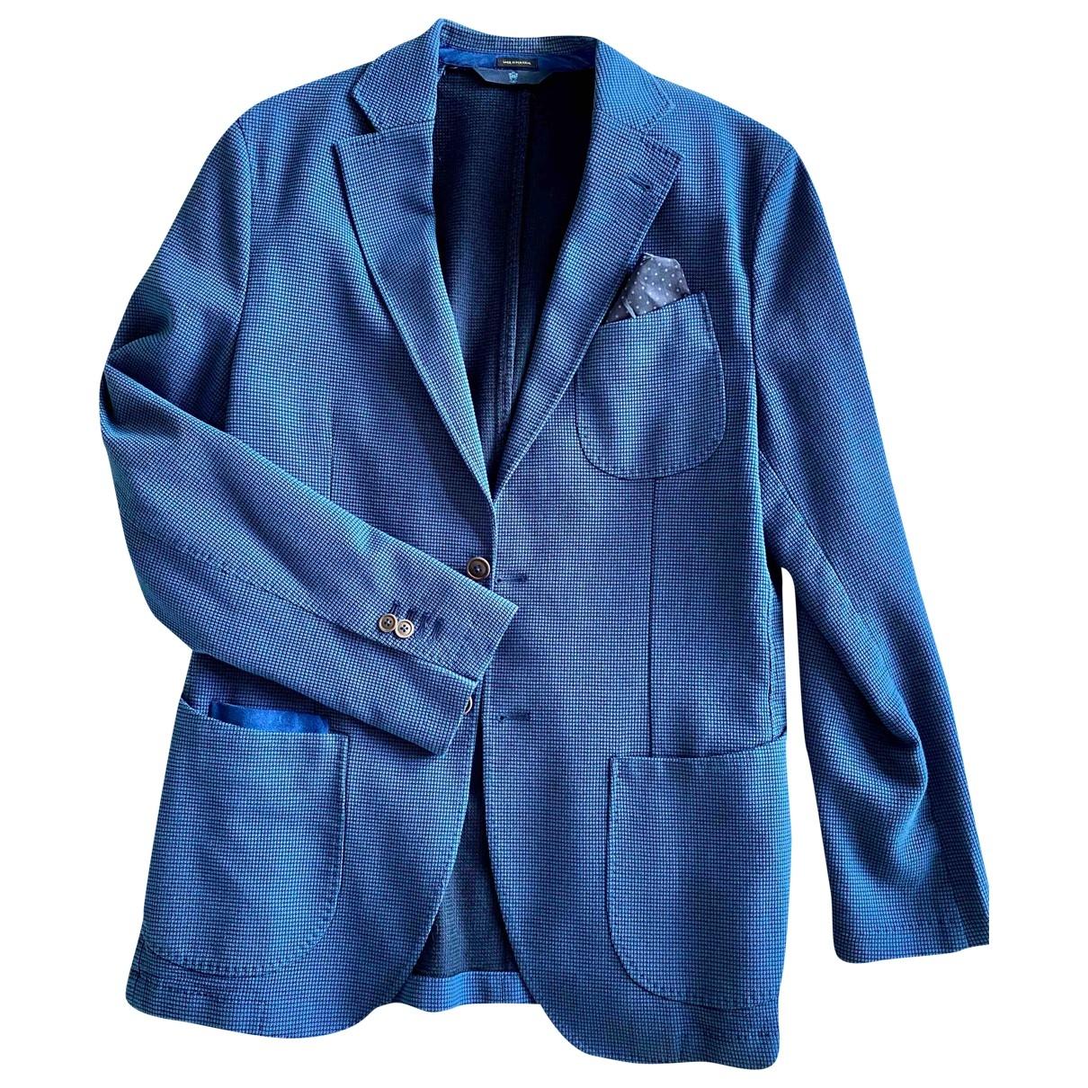 Massimo Dutti \N Blue Cotton Suits for Men M International