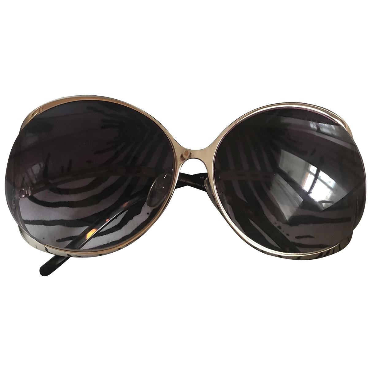 Roberto Cavalli \N Sonnenbrillen in  Gold Metall