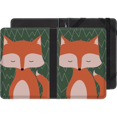 Kobo Glo eBook Reader Huelle - Fox on Green von caseable Designs