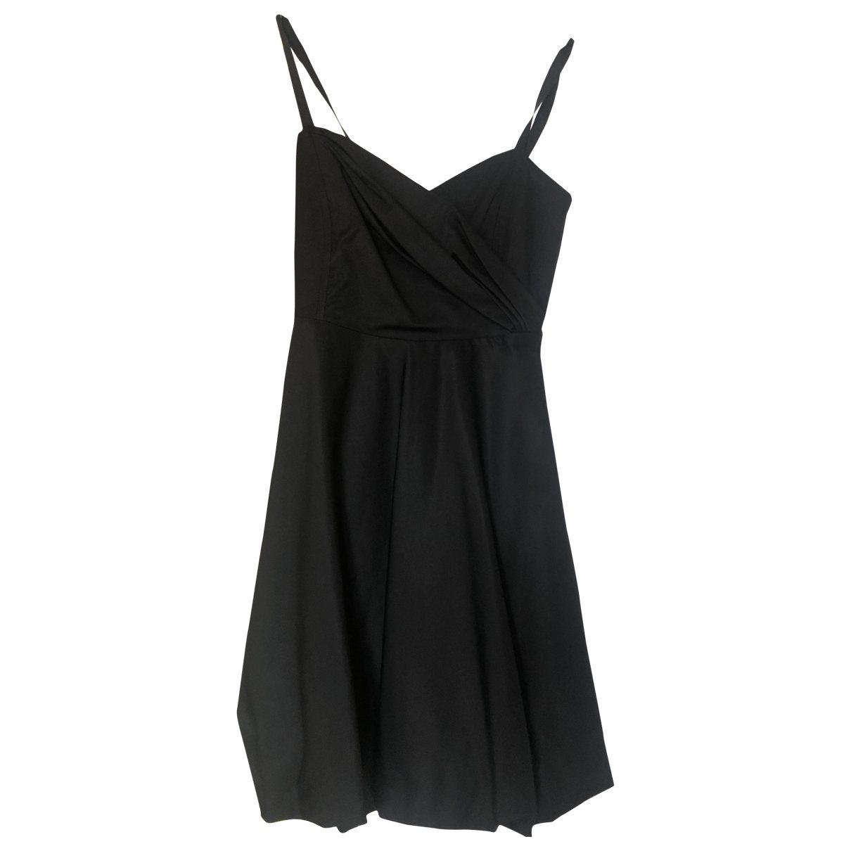 Patrizia Pepe \N Kleid in  Schwarz Baumwolle