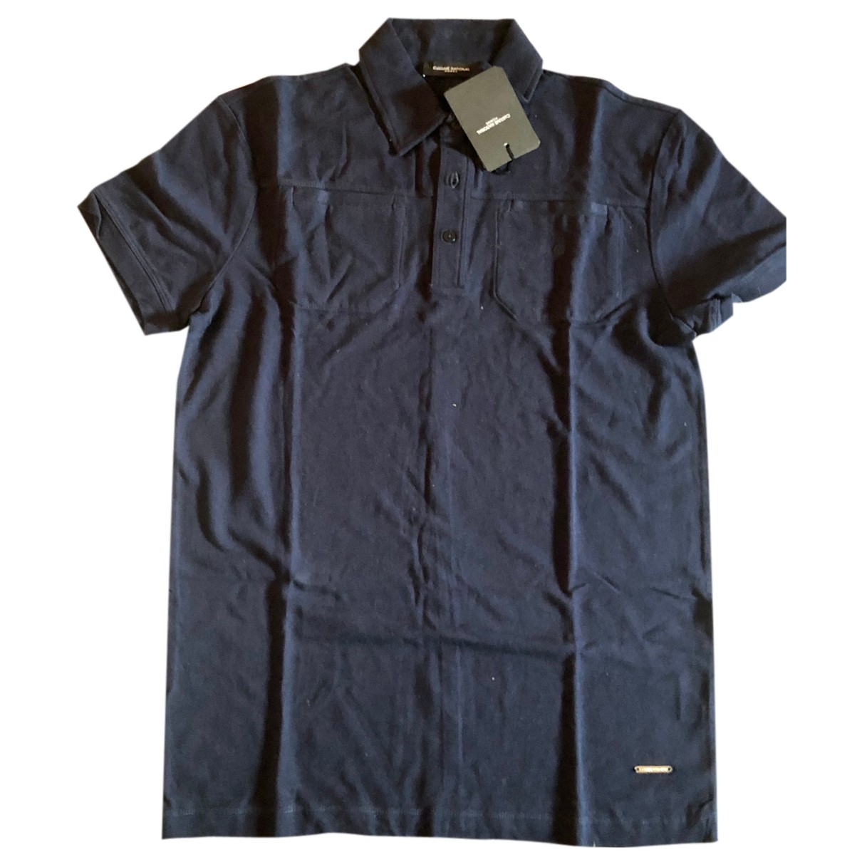 Costume National - Polos   pour homme en coton - bleu