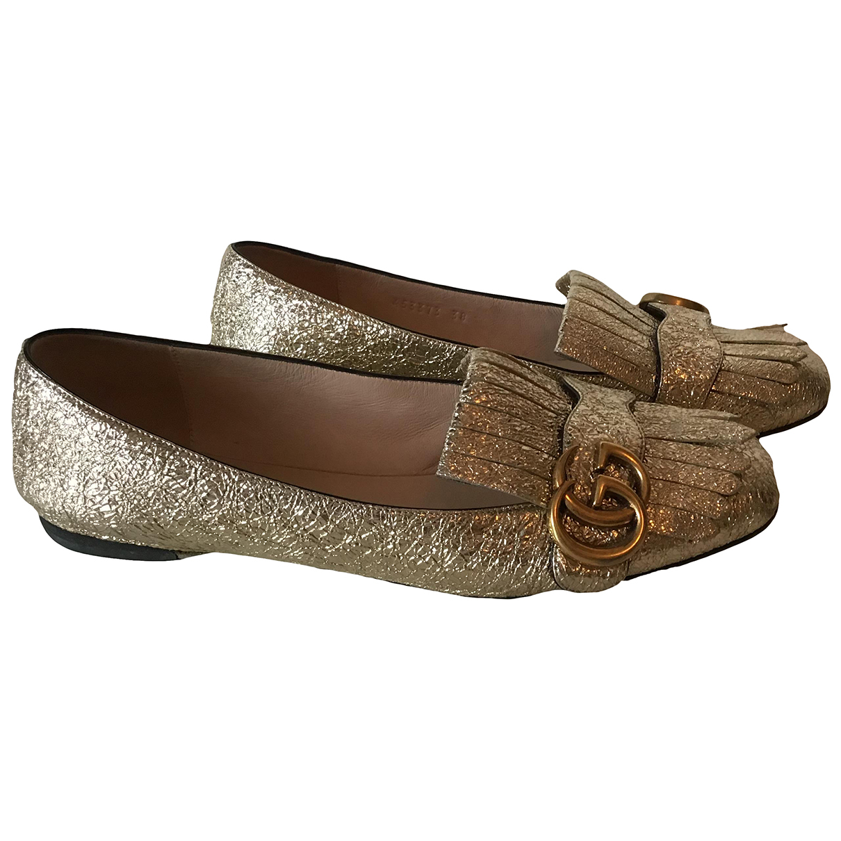 Gucci Marmont Leather Ballet flats for Women 38 EU