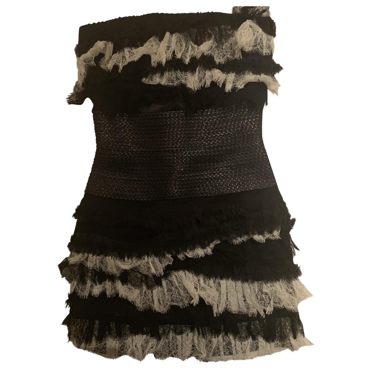 Jay Ahr \N Kleid in  Schwarz Spitze