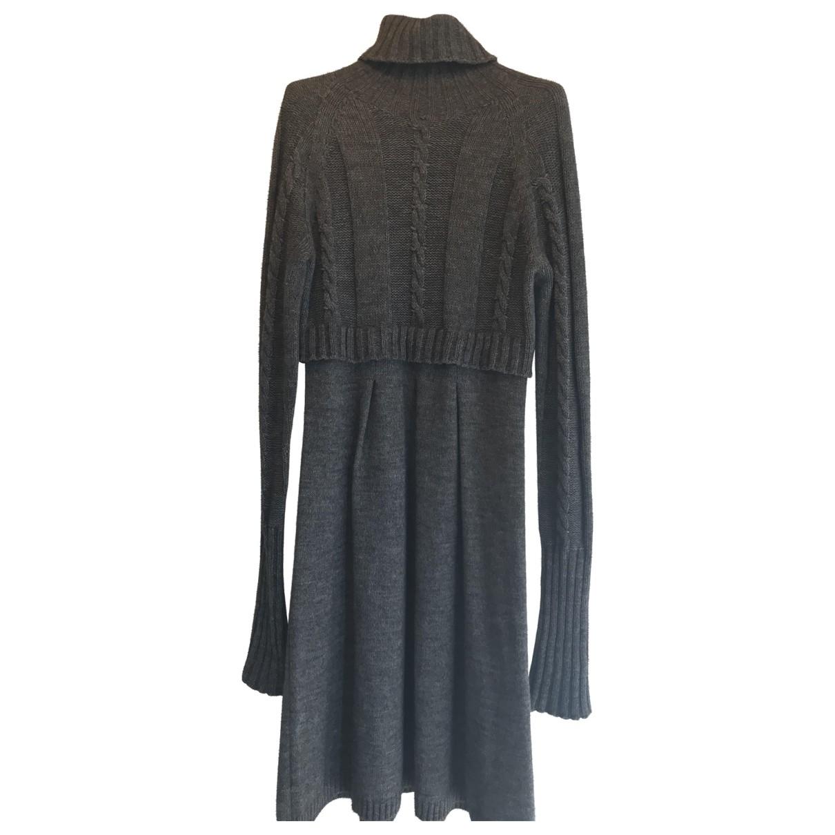 Sport Max \N Kleid in  Grau Wolle