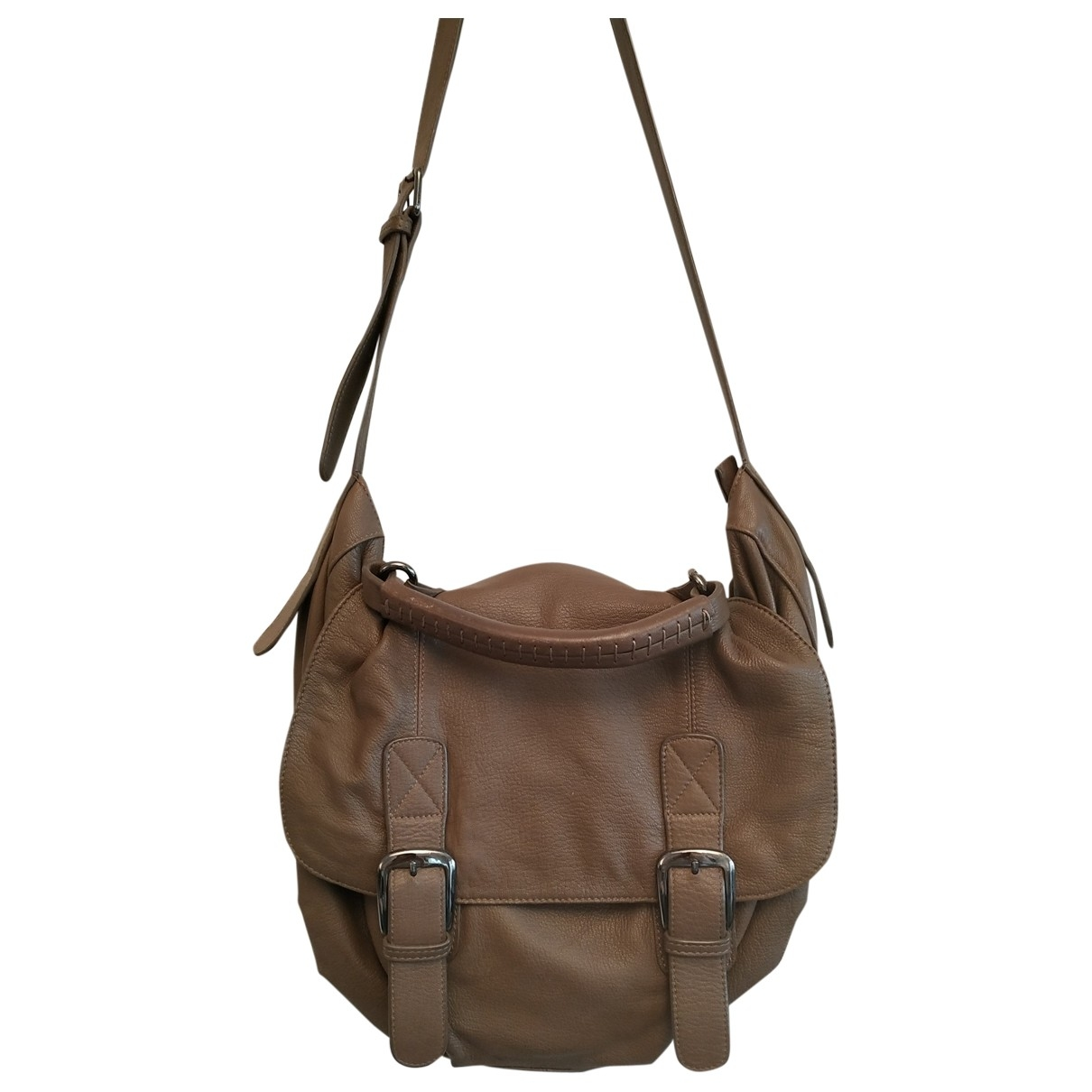 Uterque \N Camel Leather handbag for Women \N