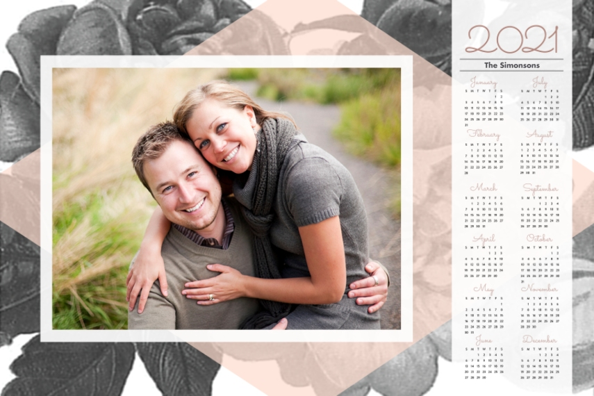 Calendar 20x30 Adhesive Poster, Home Décor -In Bloom