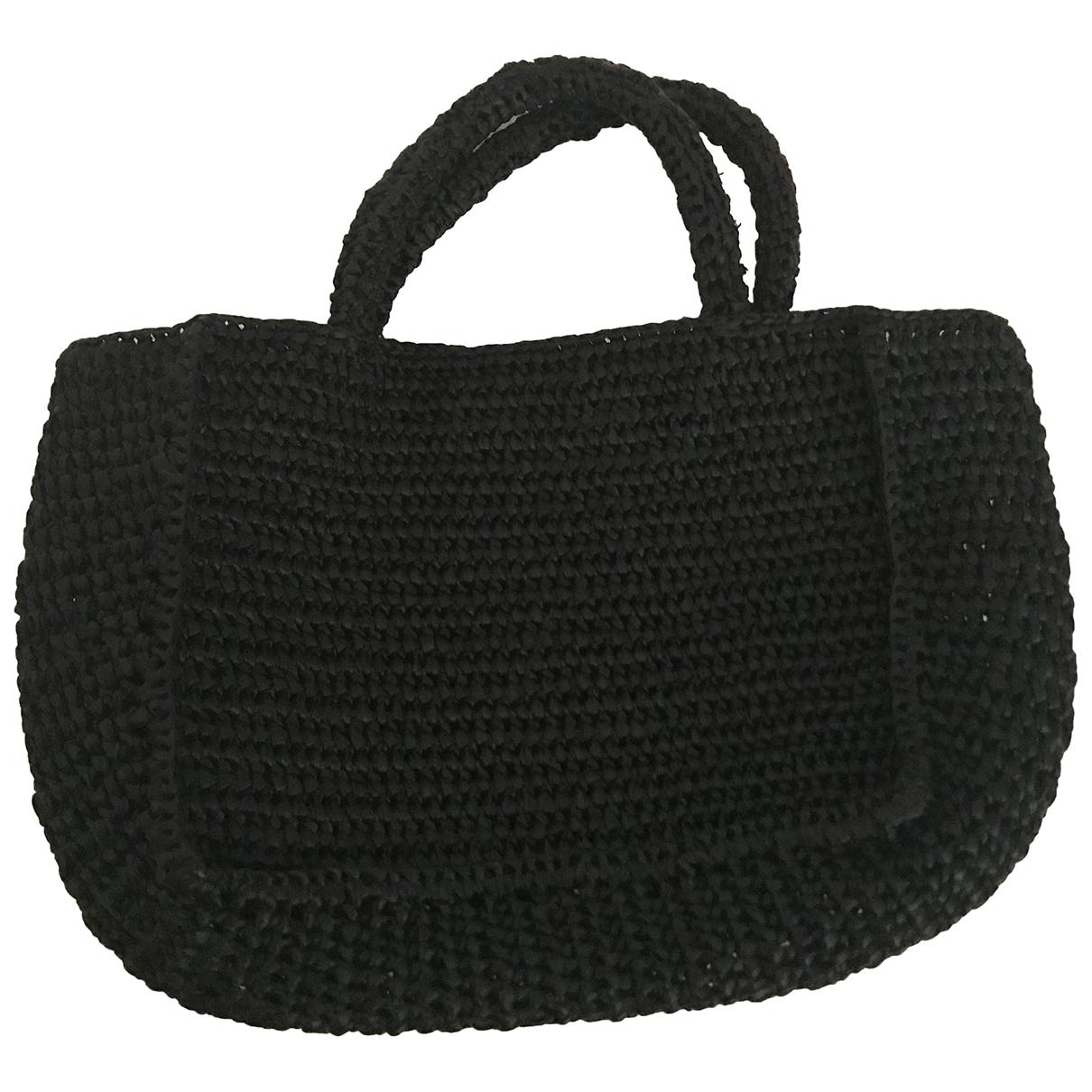 Miista N Black Wicker handbag for Women N