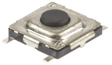 Wurth Elektronik Black Tactile Switch, Single Pole Single Throw (SPST) 20 mA 0.3mm Surface Mount