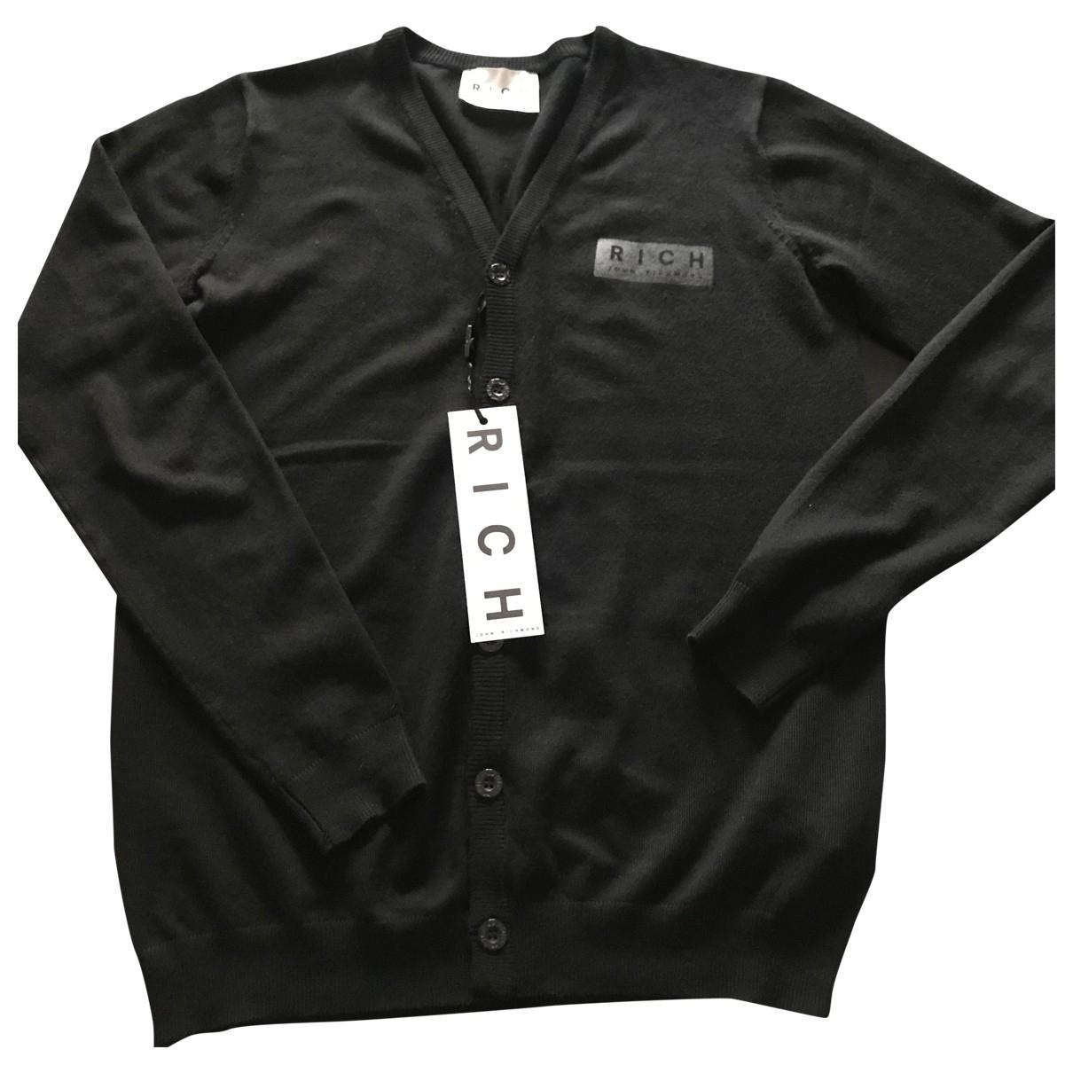 John Richmond \N Pullover.Westen.Sweatshirts  in  Schwarz Viskose