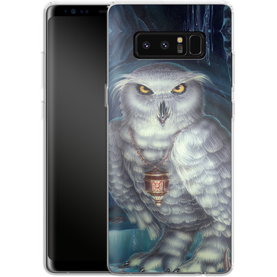 Samsung Galaxy Note 8 Silikon Handyhuelle - Ed Beard Jr - Wizard Messenger Owl von TATE and CO