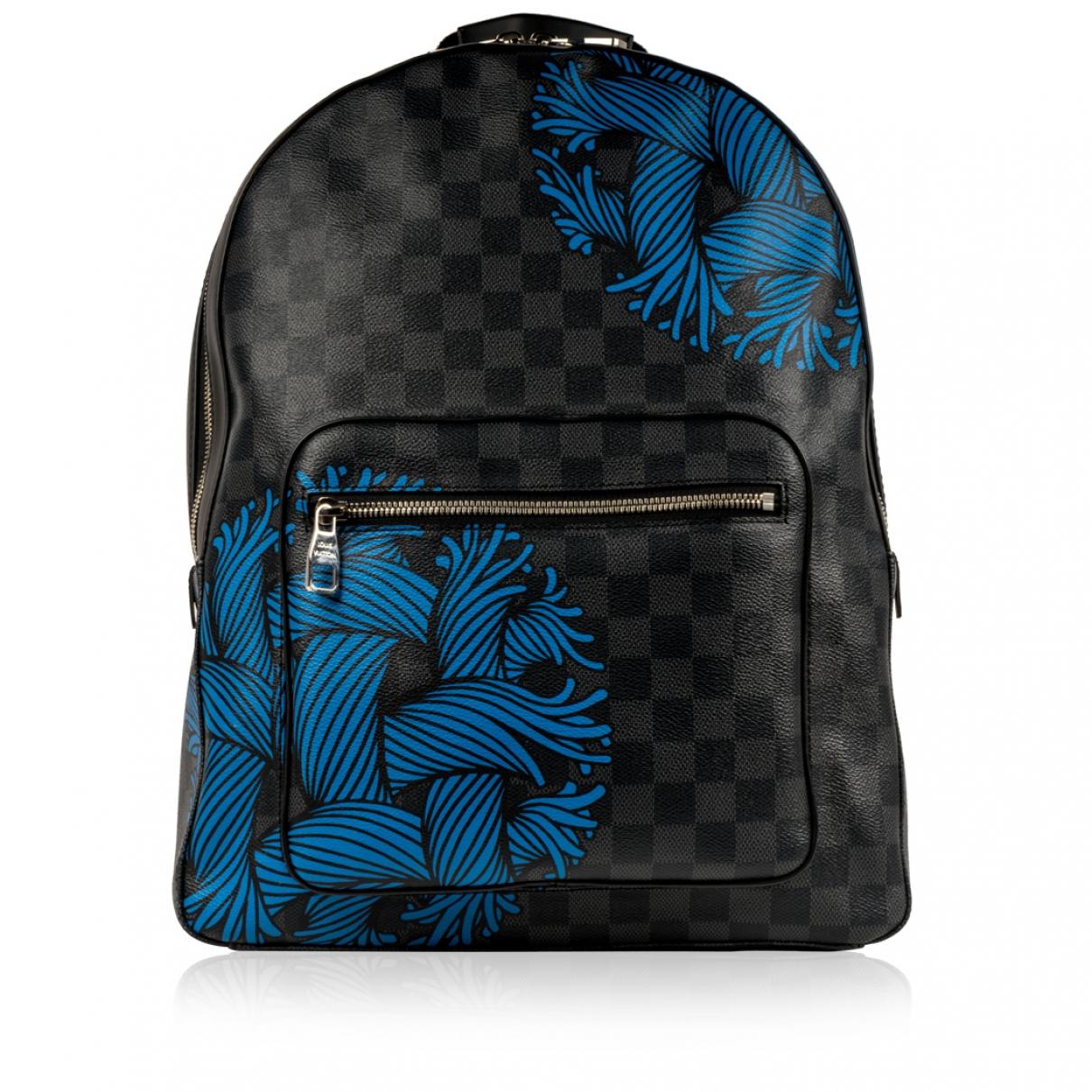 Louis Vuitton Josh Backpack Taschen in  Schwarz Leinen
