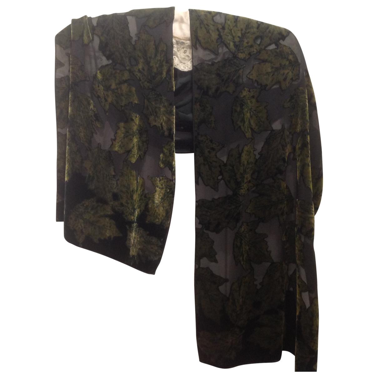Non Signé / Unsigned \N Green Velvet scarf for Women \N