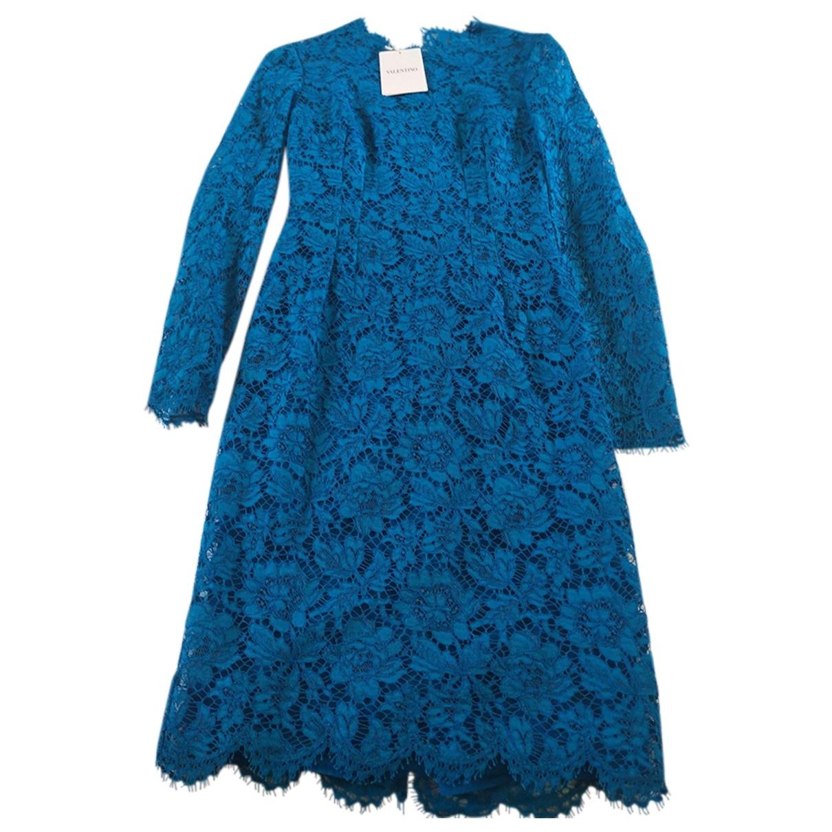 Valentino Garavani - Robe   pour femme en coton - elasthane - turquoise